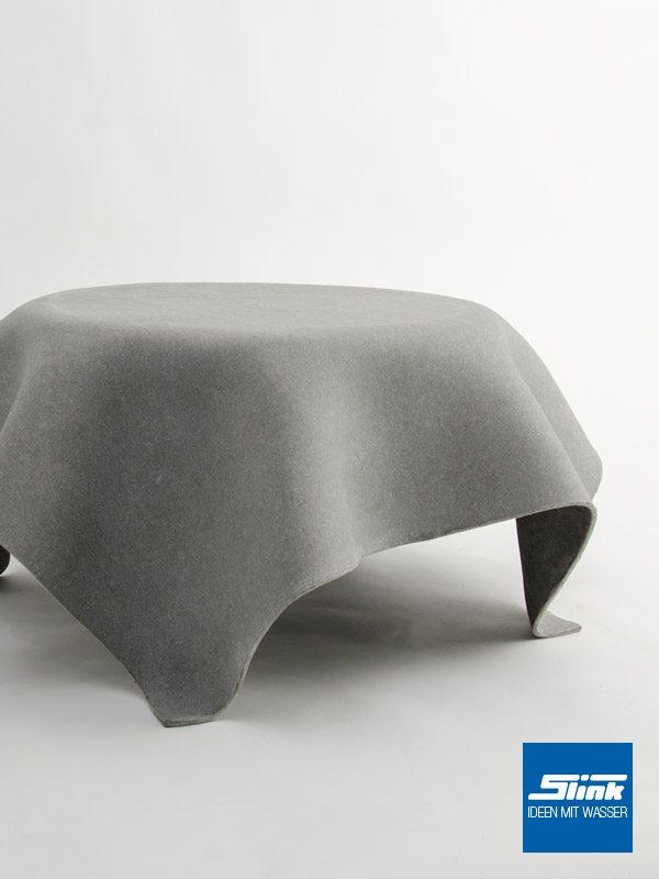Designer-Gartentisch Beistelltisch Hocuspocus Eternit Swisspearl Gartendesign betonoptik Gartengestaltung Designer-Gartenmöbel