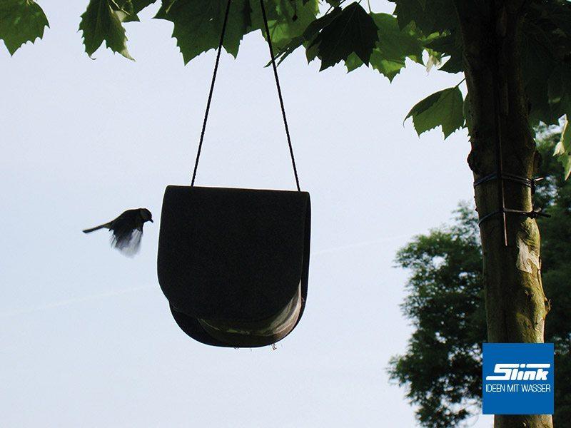 Designer-Nistkasten Birdy Vogelhaus Vogelvilla Eternit Swisspearl Gartendesign moderne Gartengestaltung in betonoptik