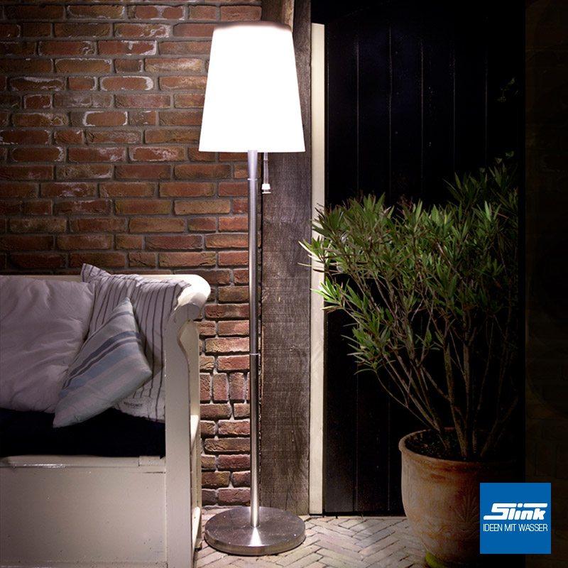 lasolar steh solarleuchte f r den garten gro slink ideen mit wasser. Black Bedroom Furniture Sets. Home Design Ideas