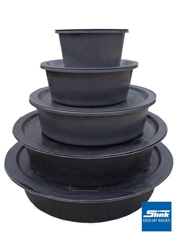 gfk-teichbecken wasserbecken rund 320 cm, 52 cm 3600 liter, Garten und Bauen
