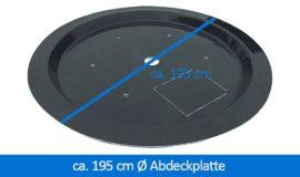 GFK-Abdeckplatte Abdeckung 195 cm rund
