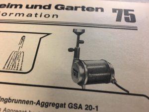 Slink Gartenbrunnen-Pumpe OASE UWP-20 von 1975
