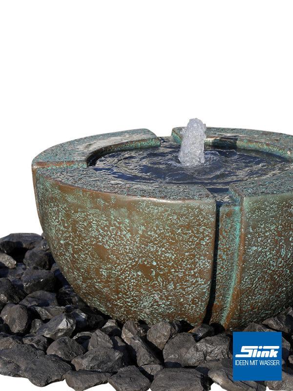Gartenbrunnen Springbrunnen Bronze Bronzeoptik Vintage Patina Brunnen für den Garten Edel