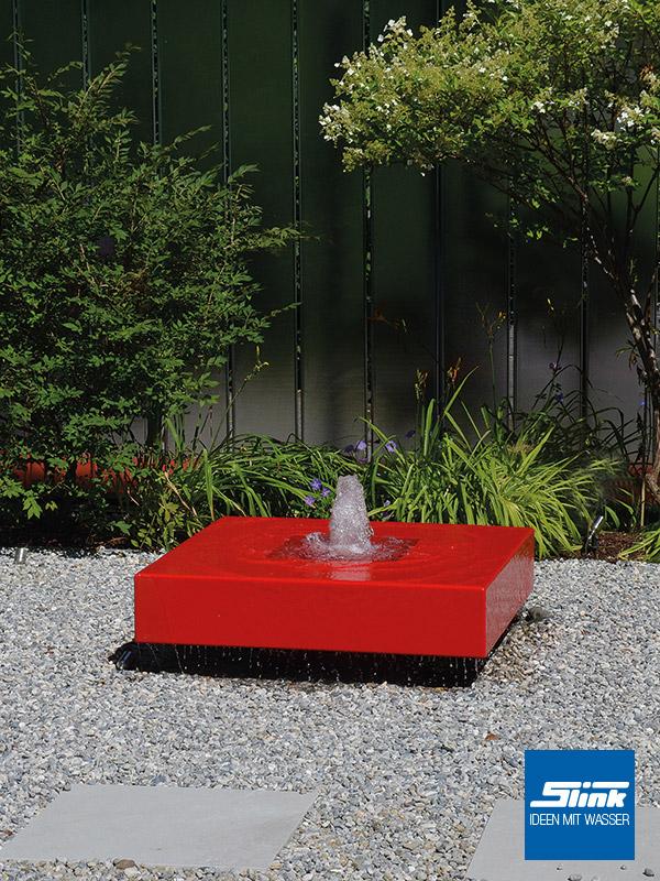 aluminium gartenbrunnen alumento 150 slink ideen mit wasser. Black Bedroom Furniture Sets. Home Design Ideas