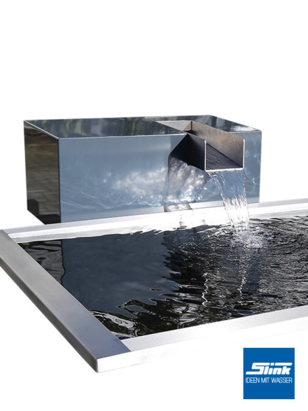 garten wasserfall aluminium kubus kjaer slink ideen. Black Bedroom Furniture Sets. Home Design Ideas