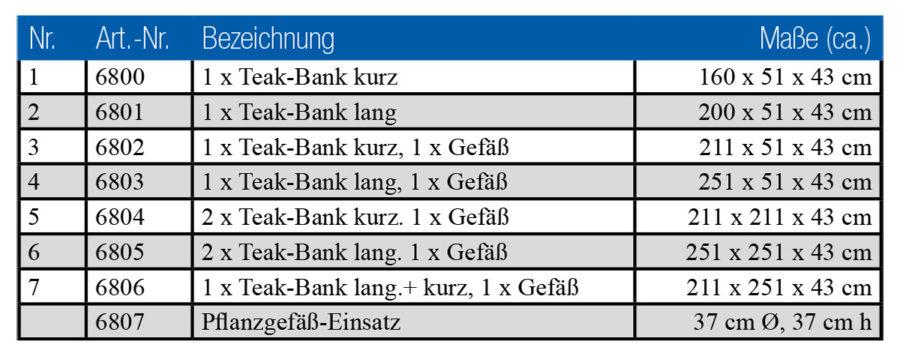 Teakbank, Gartenbank, Modulbank, Holzbank Garten, moderne Gartenbank