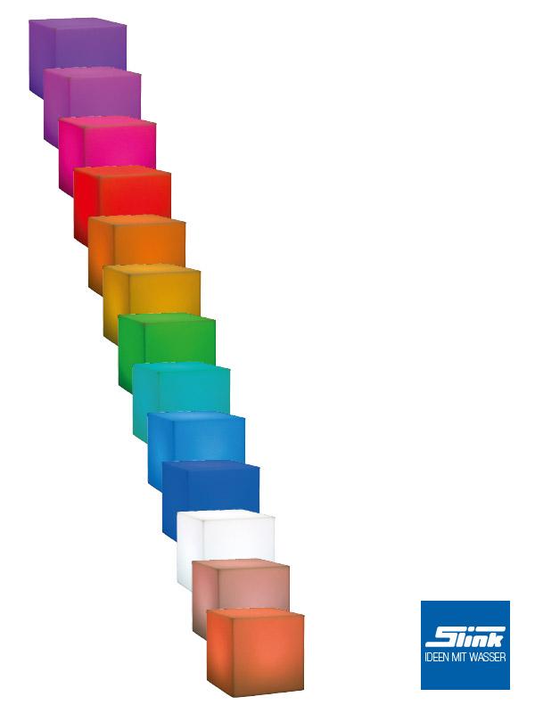 led gartenbeleuchtung und gartenlampen 80 ideen, gartenbeleuchtung led-leuchtkubus - slink | ideen mit wasser, Design ideen