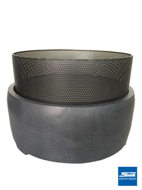 Feuerkorb in runder Form mit Lochgitter Feuerschale zum Abnehmen. Toll für Schwedenfeuer.