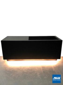 LED-Pflanzgefäß L 115 x 45 x 45 cm