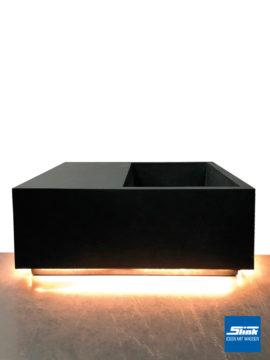 LED-Pflanzgefäß Q 92 x 92 x 45 cm