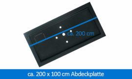 GFK-Abdeckplatte Abdeckung 200 x 100 cm rechteckig
