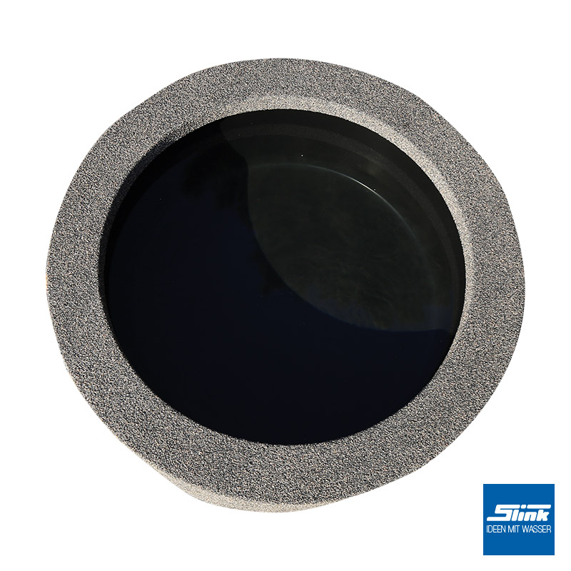 beckenumrandung granit für runde wasserbecken - slink   ideen mit, Terrassen ideen