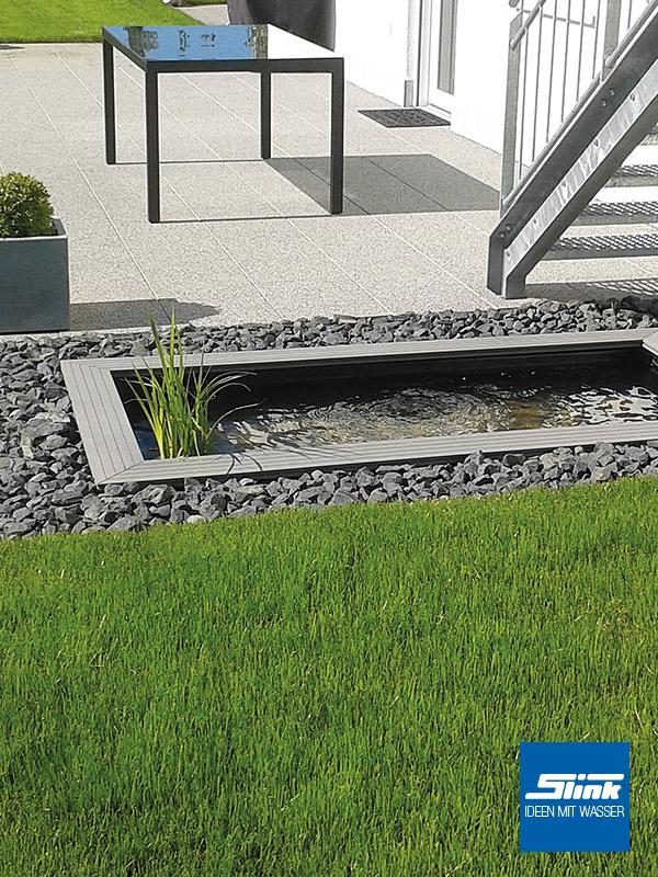 ideen mit wasser | gartenbrunnen, wasserbecken & gartenambiente - Terrassengestaltung Mit Wasserbecken