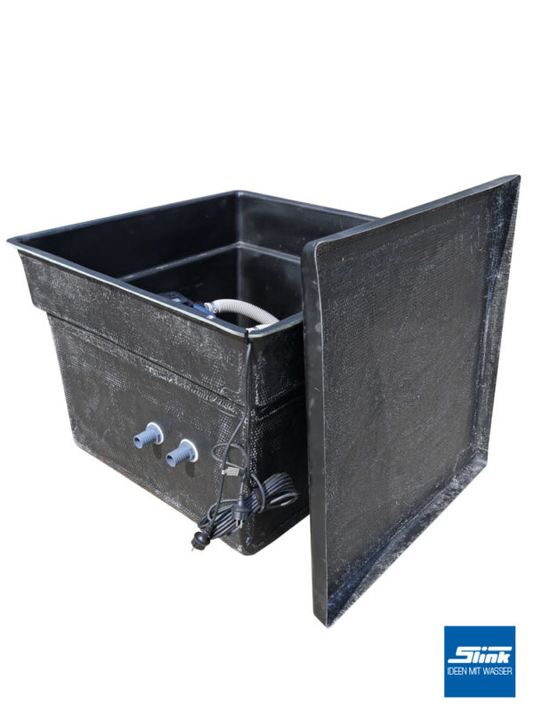 Filterschacht und Pumpenschacht für Filter oder Pumpen, die für Wasserbecken im GArteneingesetzt werden.