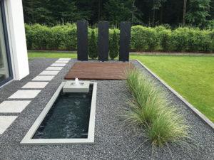 Architektonisches Wasserbecken mit Wasserspiel Reflecting Pool Teichbecken GFK