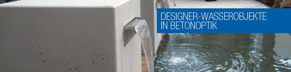 schwer angesagt moderne gartenspringbrunnen aus beton und in betonoptik als wasserfall oder. Black Bedroom Furniture Sets. Home Design Ideas