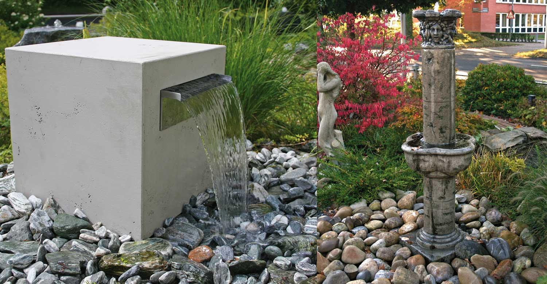 Moderne Gartenbrunnen. moderner gartenbrunnen verschiedene ...