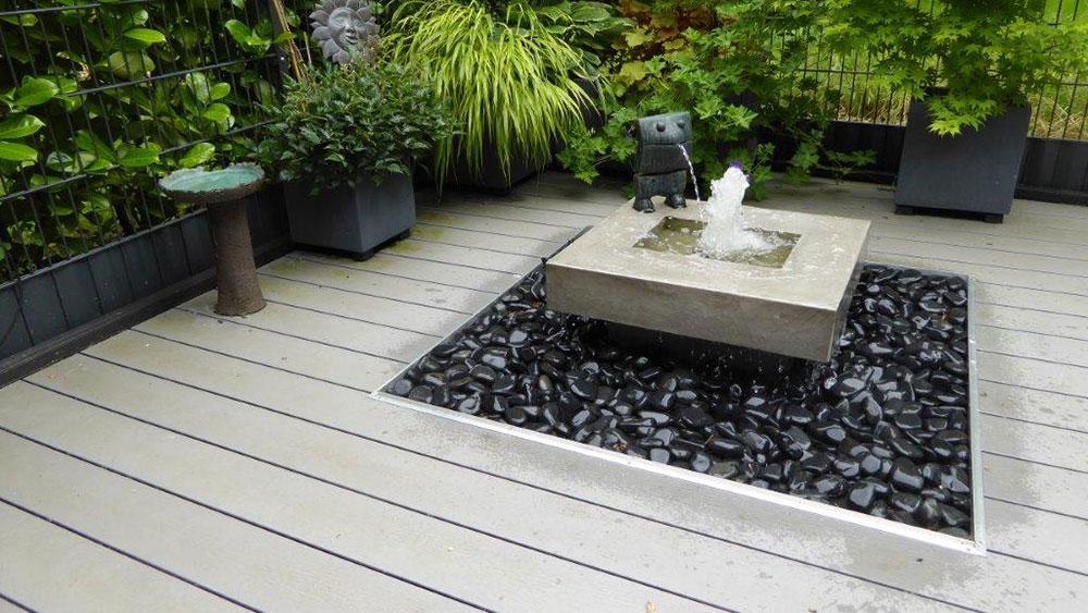 Slink Brunnen und Wasserspiele beton optik kubusbrunnen bauhausstil designergärten ideen mit Wasser