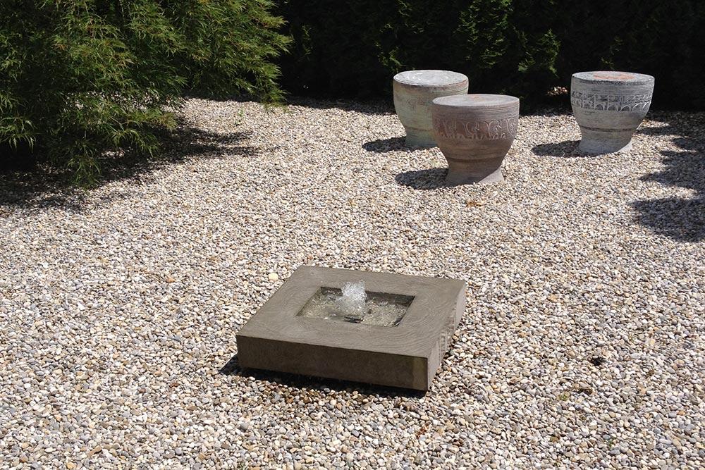 Betonrbunnen Kubusbrunnen modernes Wasserspiel Elemento Slink Brunnen