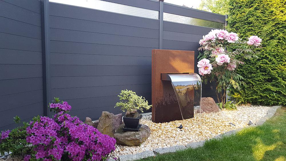 Cortenstahl Ideen Garten-Wasserfall aus Corten Cortenwasserfall