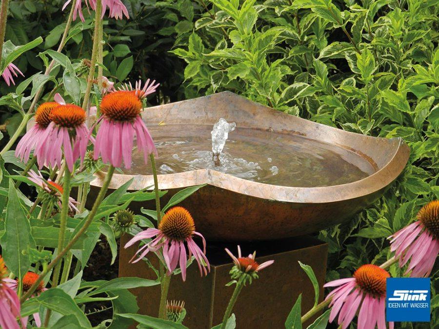 Kupfer-Gartenbrunnen, Terrassenbrunnen aus Kupfer, Deko für Terrasse, Wasser im Garten, Wasserspiel Terrasse Haus