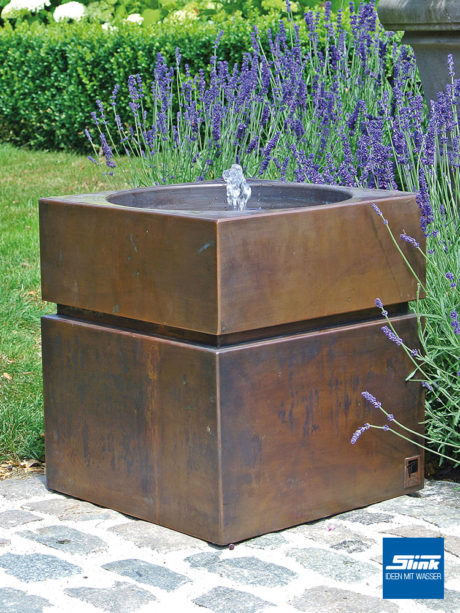 Gartenbrunnen Kupfer, Kupferbrunnen. Springbrunnen Kuper, Terrasse Wasserspeier, Wasserquell Balkon Ideen, Springbrunnen kaufen