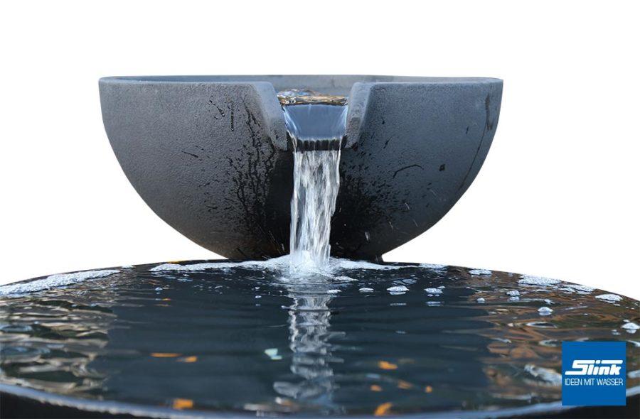 Wasserschale, Garten-Wasserfall, Springrbunnen, Kaskade, Ideen mit Wasser, Wasserspiele Designergarten, Wasserideen, Dekobeispiele Garten modern