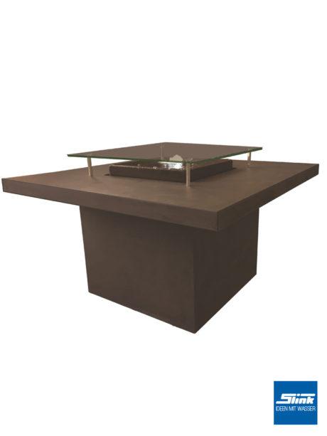 Wassertisch beton, Gartenbrunnen betonoptik, modern, bauhausstil, Tisch mit Wasser integriert