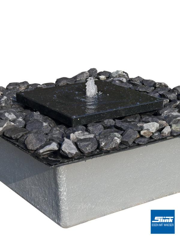 Gartenbrunnen-Set, Granitbrunnen, Steinbrunnen, Wasserspiel, Steinplatte als Springbrunnen, Zierbrunnen Stein, modular