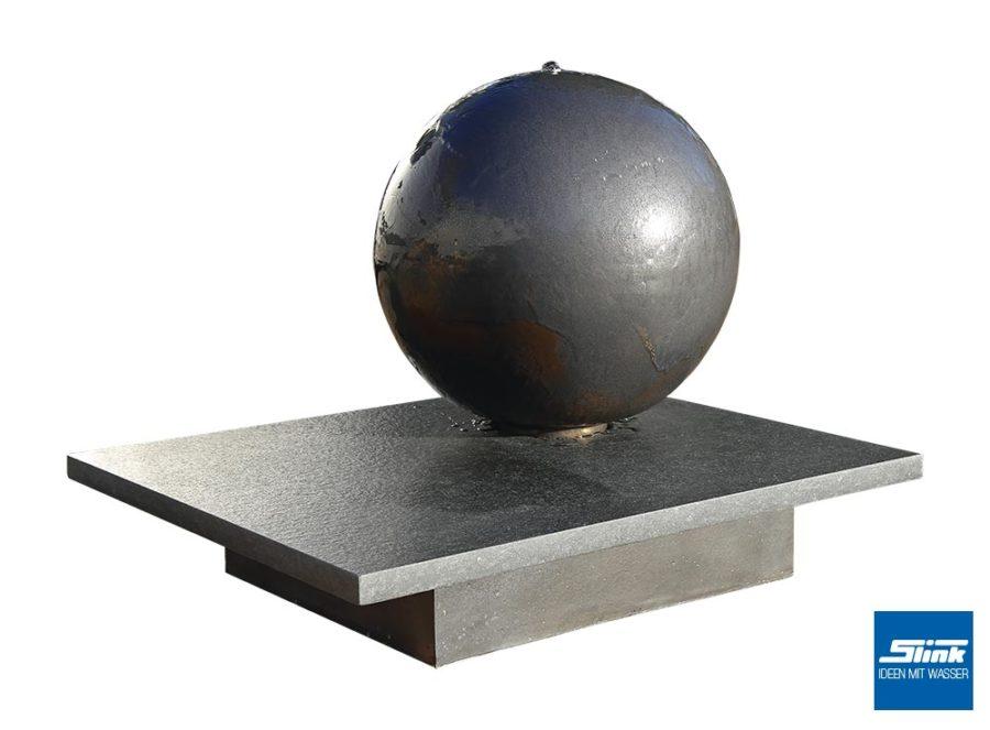 Kugelbrunnen, Brunnen Kugel Garten, Zimmerbrunnen, Terrassenbrunnen, Keramik, Gartenkunst, Formenspiel, Zierbrunnen