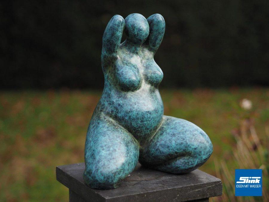 Venusfigur GArten, Bronzeskulptur, Bronzefigur, Gartenfigur, Gartenkunst, Gartendeko, Gartenambiente, Designer-Skulptur Garten, Ideen für den Garten