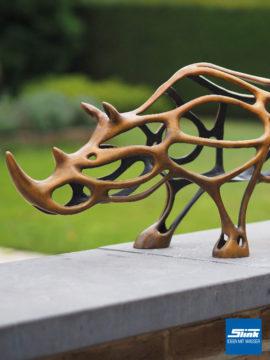 Bronzefigur Nashorn