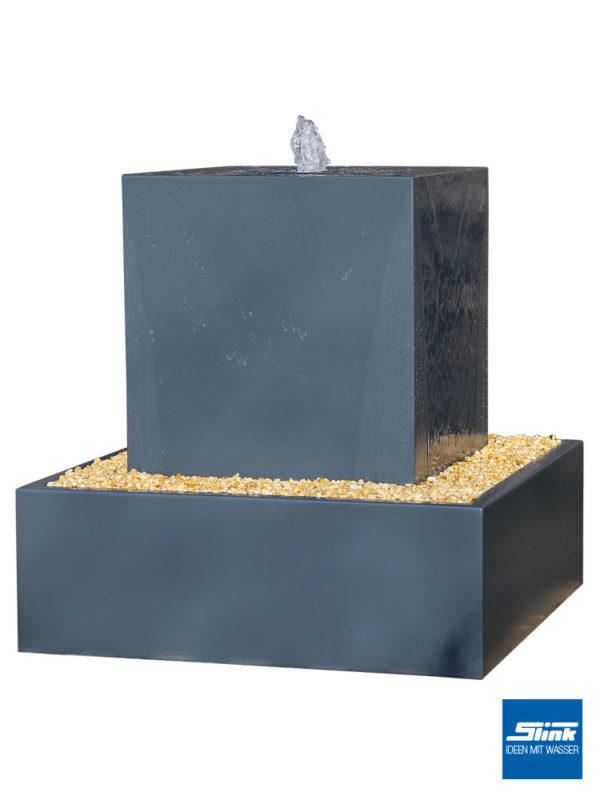 Hochteich, Gartenbrunnen Aluminium, Terrassenbrunnen Alu, Designer-Brunnen, Ideen mit Wasser, Gartenbrunnen kaufen, bestellen, Wasserquell mit Hochbecken, Metall Springbrunnen, modernes Design