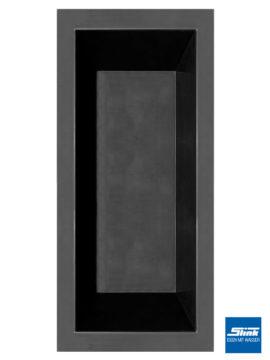 GFK-Teichbecken Wasserbecken rechteckig 180 x 80 x 52 cm – schwarz