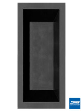 GFK-Teichbecken Wasserbecken rechteckig 240 x 100 x 52 cm – schwarz