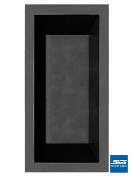 GFK-Teichbecken Wasserbecken rechteckig 370 x 180 x 52 cm – schwarz
