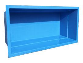 Architektonisches GFK-Wasserbecken Einzelstück Sonderanfertigung 300 x 150 x 100 cm RAL 5012 lichtblau