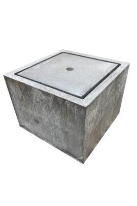 Komplettbrunnen Zink-Kubus-Tisch Sonderanfertigung 80 x 80 x 60 cm
