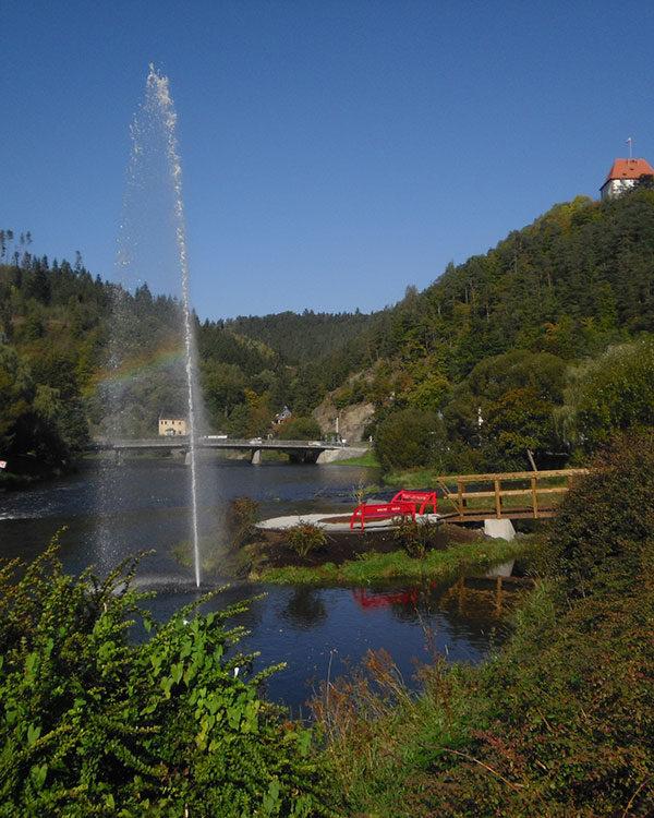 Riesenfontäne, Springbrunnenanlage, Großprofekt, Städteplanung, Landschaftsgestaltung Wasser, See, Belebung Ideen