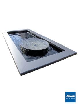 Komplettbrunnen Wasserschale DB703 60 cm mit architektonischem Wasserbecken