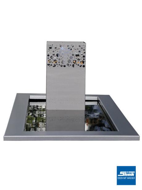Stele Garten, Garten Brunnen, Zierbrunnen, Designideen Garten, Springbrunnen., architektonisches Wasserbecken, formale GArtengestaltung