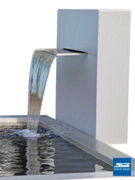 Formales Wasserbecken mit Wasserfall-Stele Ella Victoria