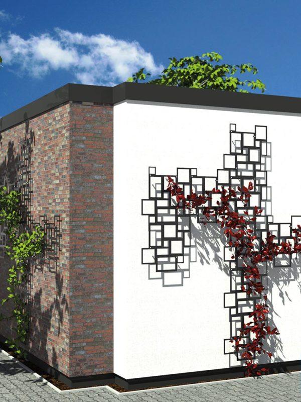 Rankhilfe modern, Design-Spalier, Rankgitter Hausmauer, Ideen, Gartengestaltung