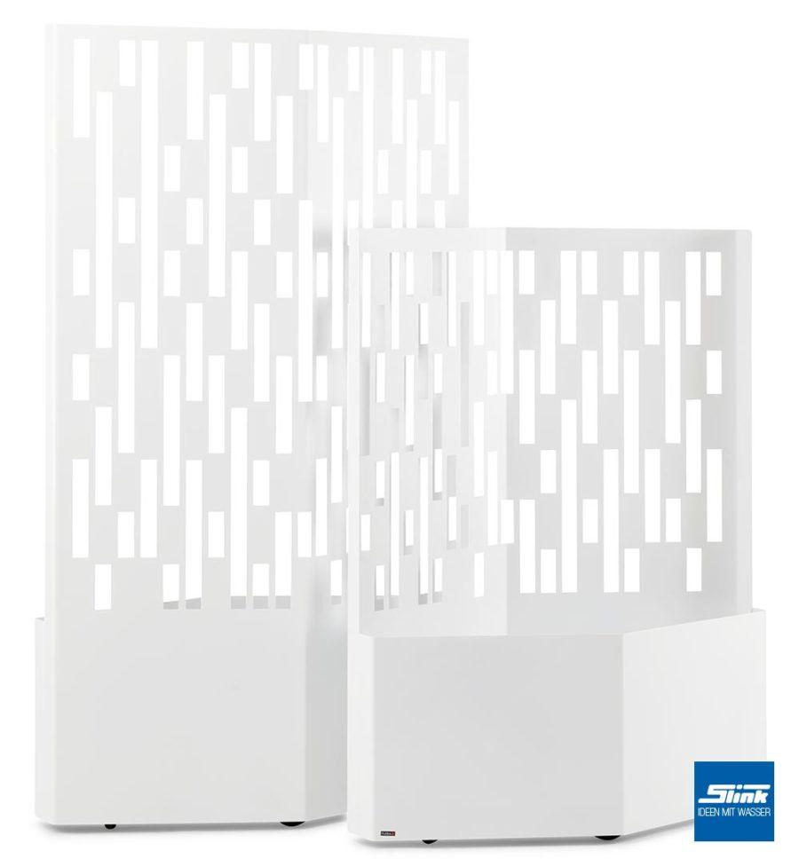 Sichtschitz modern. Sichtschutz Design, Garten-Sichtschutz Idee, Pflanzkübel, Rankhilfre modern