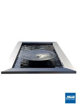 Gartenbrunnen Edelstahl-Wasserschale 80 mit formalem Wasserbecken
