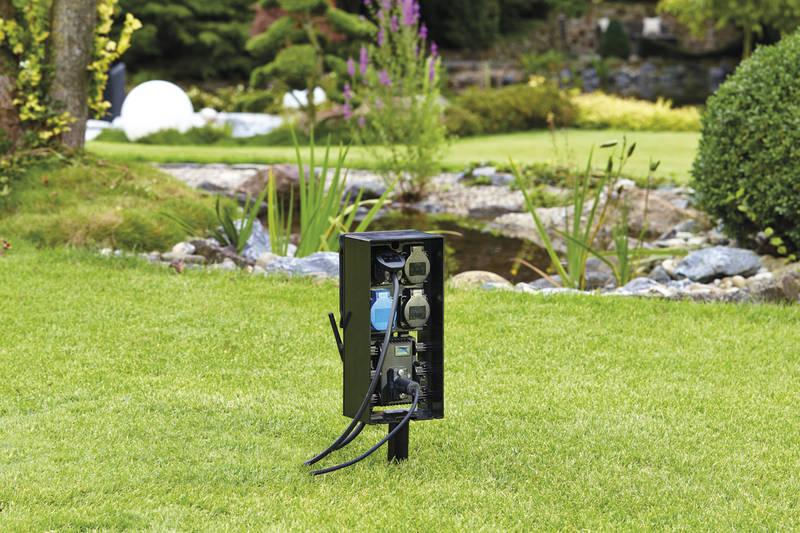 smart home gartensteckdose, steckdose outdoor, mehrfachstecker garten
