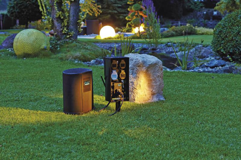 Gartensteckdose, Mehrfachstecker Garten, draussen, outdoor, Terrasse, Mehrfachstecker, smart home
