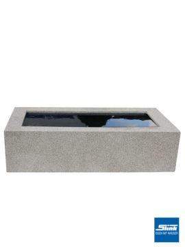 Quadratische Beckenumrandung Granitoptik für 100 x 100 x 35 cm