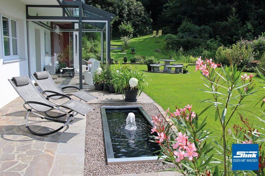 Fontäne Garten, Springbrunnen, Gartenbrunnen, Teichbecken, Terrassenbecken, Wasserbecken mit Wasserspiel