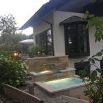 Wasserfall, Garten; Kaskade, Wasserlauf, Hauswand, Bauteil, DIY, Teichbecken, Wasserbecken, Gartenbrunnen